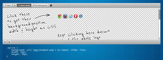 [Narzędzia][CSS] Jak w prosty sposób pobrać współrzędne sprajtów (Sprite CSS) ?